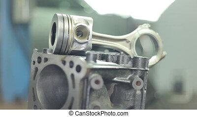 moteur, pistons, diesel, rods., parties, connecter, épargner