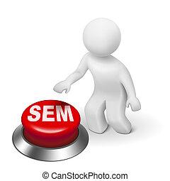 moteur, recherche, ), commercialisation, bouton, (, sem, homme, 3d
