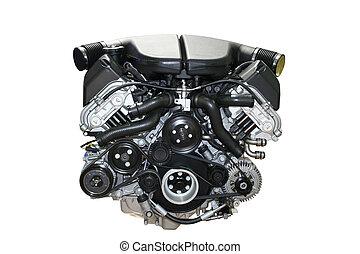 moteur, voiture, isolé