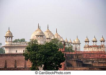 moti, inde, mosquée, perle, masjid, fort, ou, agra