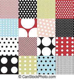 motifs, ensemble, polka, seamless, point