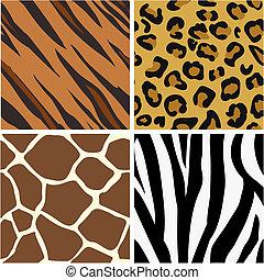 motifs, impression, seamless, carrelage, animal