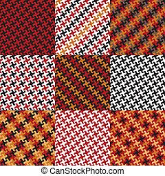 motifs, puzzle, rouges