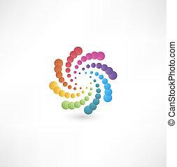motion., conception, spirale, éléments