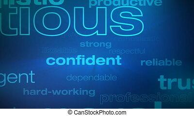 motivation, boucle, mots, reussite