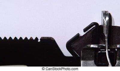 motivation, mot, haut, imprimé, feuille, fin, typewriter.