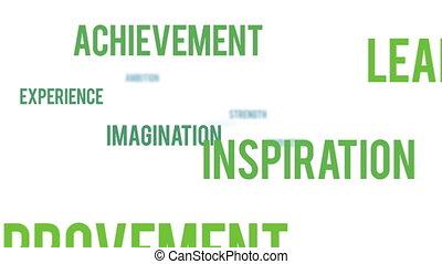 motivation, nuage, business, mot