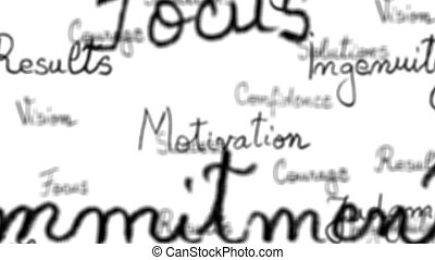 motivation, seamless, mots, boucle