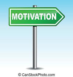 motivation, signe flèche