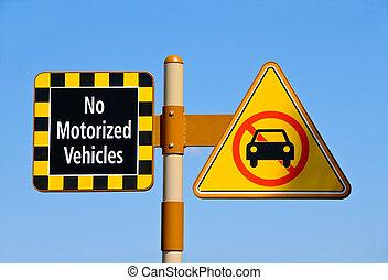motorisé, non, véhicules