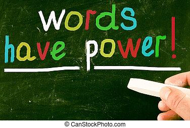mots, avoir, power!