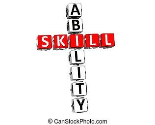 mots croisés, compétence, capacité