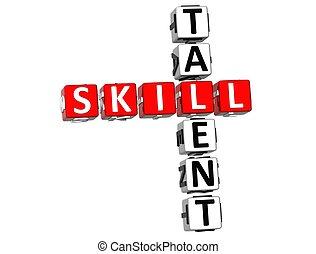 mots croisés, compétence, talent