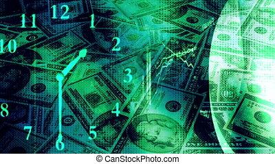 mouche, bleu, argent, sur, diagrammes, vert