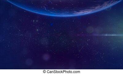 mouche, galaxy., espace, nébuleuse, -, par, fond, 6