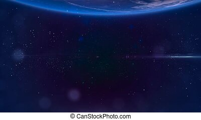 mouche, galaxy., fond, espace, nébuleuse, -, par, 7