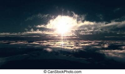 mouche, nuages