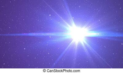 mouche, rayon, étoiles, espace
