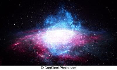 mouche travers, galaxie