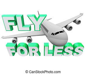 mouche, vol, moins, quand, voyage, -, air, sauver, réservation