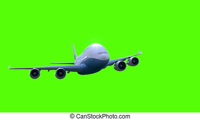 mouches, avion, vert