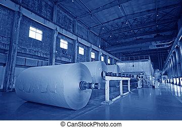 moulin, papier, équipement, mécanique, usine