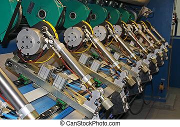 moulin, papier, précision, machinerie, équipement