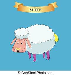 mouton, grand, bleu