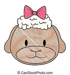 mouton, mignon, adorable, caractère, femme