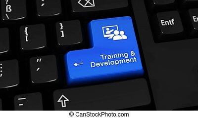 mouvement, 324., clavier, rotation, informatique, button., développement, formation