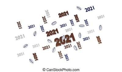 mouvement, conceptions, balles, 2021, beaucoup, réflexions, rugby, loopable, blanc