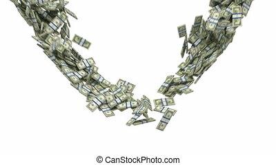 mouvement, couler, lent, dollar, nous