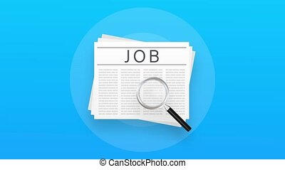 mouvement, design., recherche, interview., métier, recrutement, papier, journal, graphiques