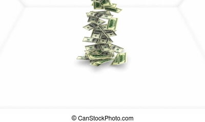 mouvement, dollars, lent, couler, nous