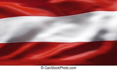 mouvement, drapeau autriche, lent