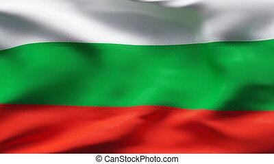 mouvement, drapeau bulgarie, lent