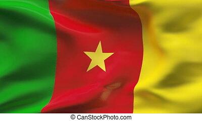 mouvement, drapeau, camerounais, lent