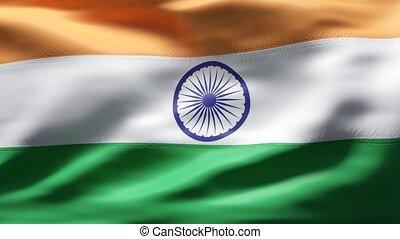 mouvement, drapeau inde, lent