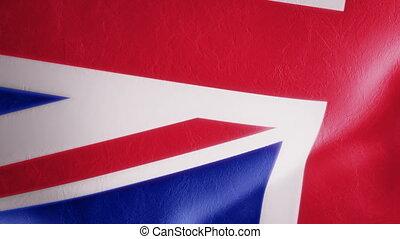 mouvement, drapeau, lent, intro, britannique