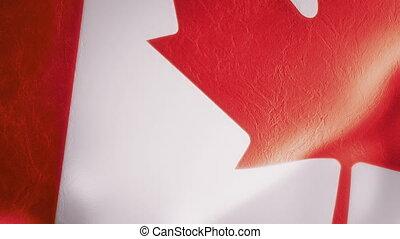 mouvement, drapeau, lent, intro, canadien