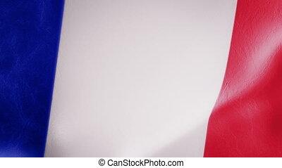mouvement, drapeau, lent, intro, francais