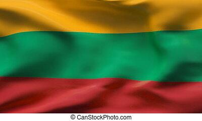 mouvement, drapeau, lituanie, lent