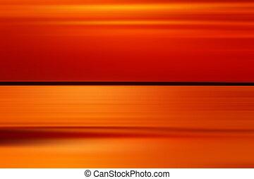 mouvement, effet, coloré, coucher soleil, exposition, long, brouillé