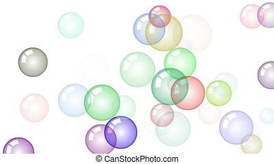 mouvement, en mouvement, fond, bulles, savon, hd