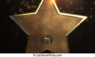 mouvement, fond, résumé, étoile, or