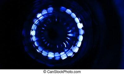 mouvement, footage., interlocuteurs, néon, musical