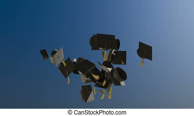 mouvement, lent, remise diplômes plafonne