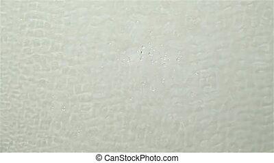mouvement, lent, surface, eau, arrière-plan., drops., éclaboussure, ondulation, blanc