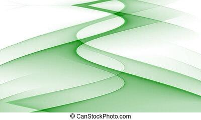 mouvement, ondulé, bakcground, résumé, seamless, courbes, fond, vidéo, blanc vert, boucle, ascendant