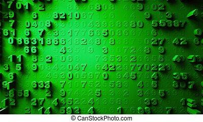 mouvement, résumé, aléatoire, nombres
